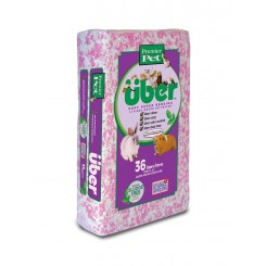 Über Papirstrøelse Pink/Hvid 36 L.