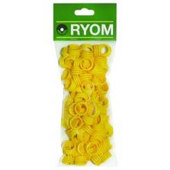 Hønseringe plast gul 100 stk