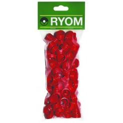 Hønseringe plast rød 100 stk