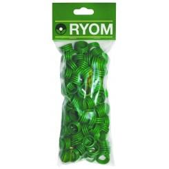 Hønseringe plast grøn 100 stk