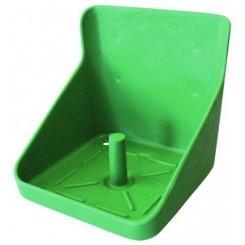 Slikstenholder firkantet grøn 10 kg
