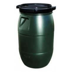 Fodertønde grøn med skruelåg 30 L